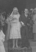 O casamento de Maria Brillas e Joaquim Ensesa em 1950